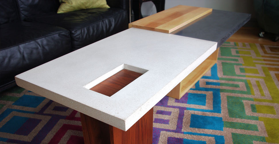 Concrete and Wood Coffee Table by John Newbold | Concrete Exchange