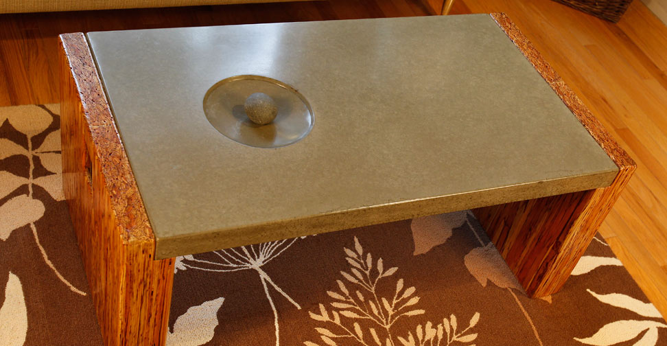 Concrete Coffee Table By Sticks Stones Concrete Exchange