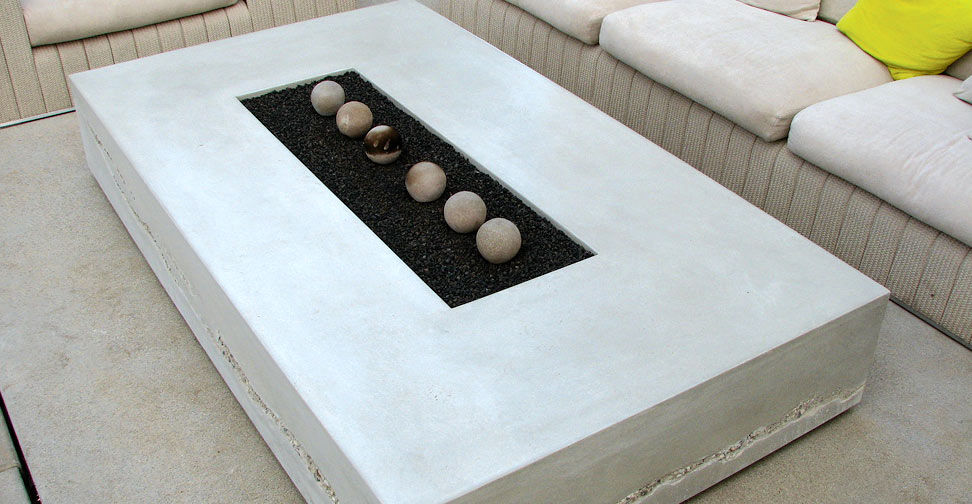 Concrete Fire Table by Seth Ernsdorf | Concrete Exchange