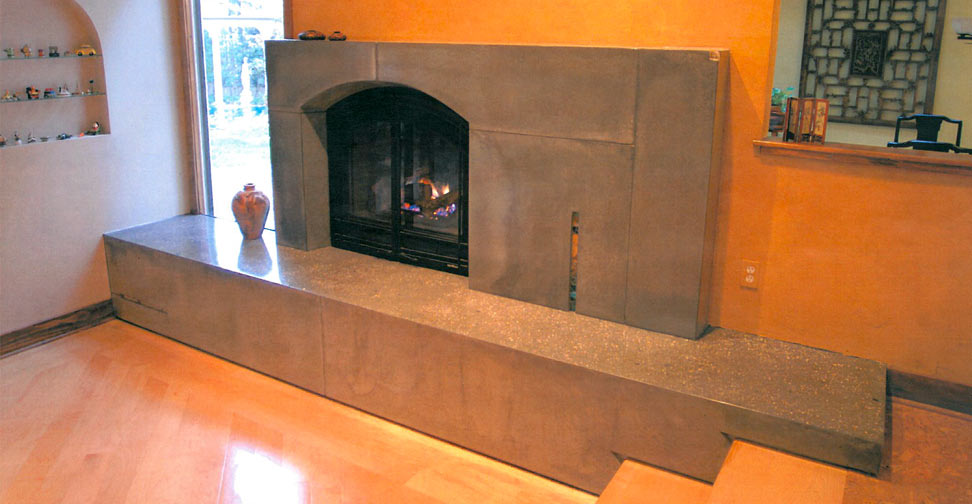 Concrete Fireplace Surround and Hearth by Chris Jarman | Concrete Exchange
