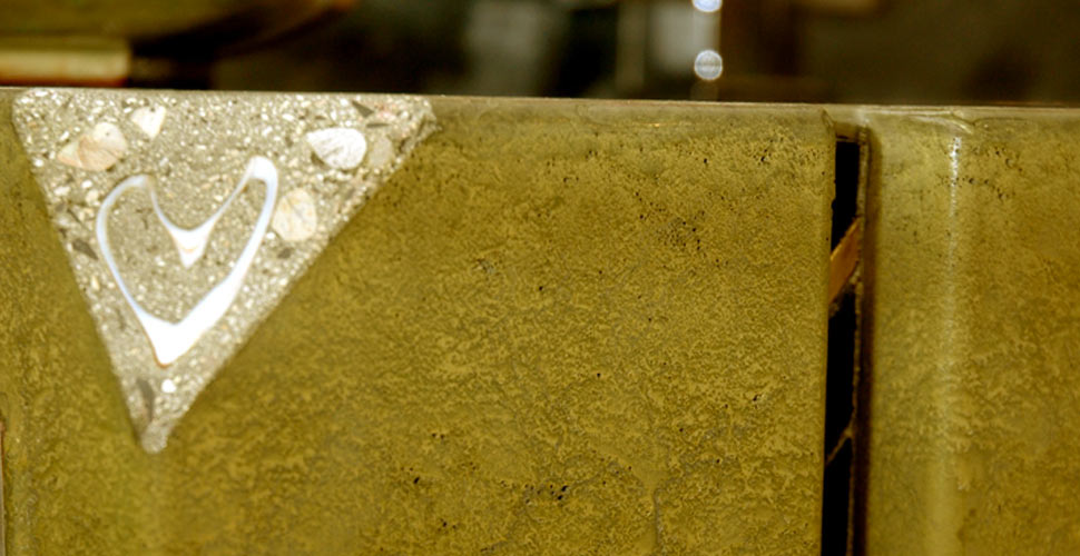 Exposed Aggregate Corner Detail - Concrete Integral Ramp Sink by Jaime McGuire | Concrete Exchange