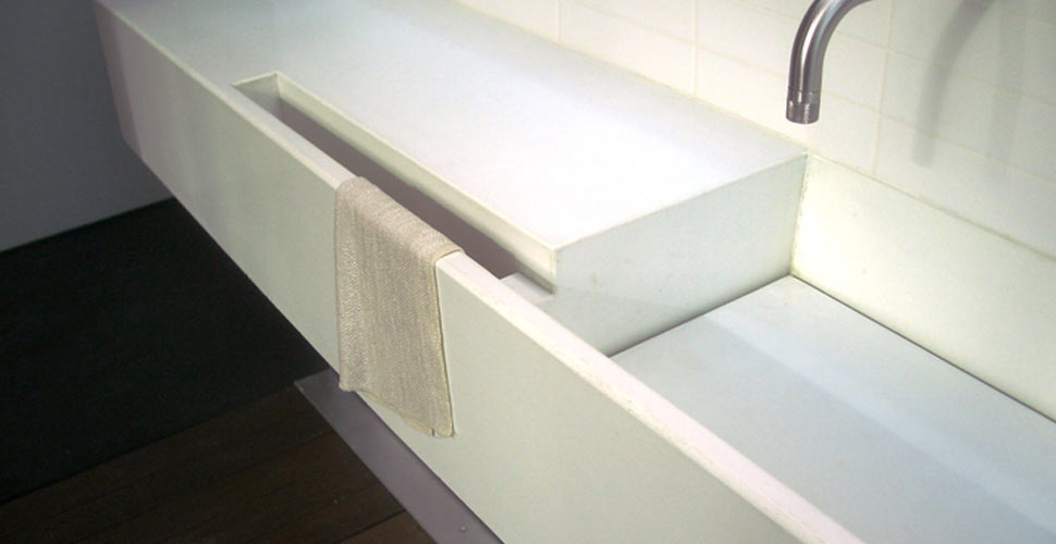 Concrete Bathroom Sink by John Newbold, Newbold Stone | Concrete Exchange