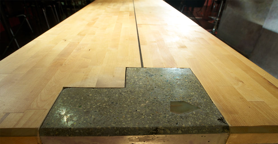 Concrete and Wood Table by Sean Dunston | Concrete Exchange
