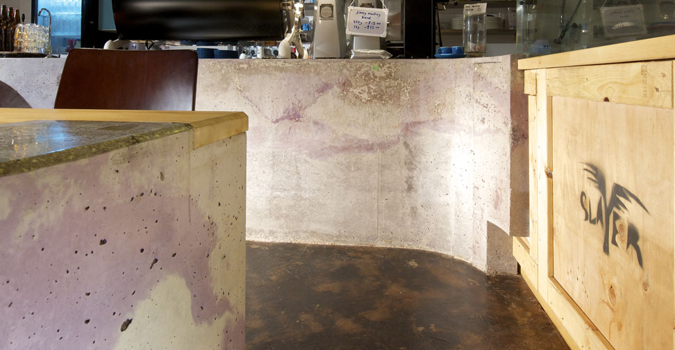 Concrete Counter Walls by Sean Dunston | Concrete Exchange