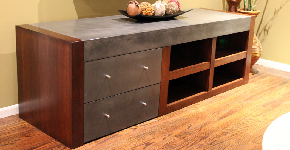 Concrete Entertainment Center By Lawrence Missakian