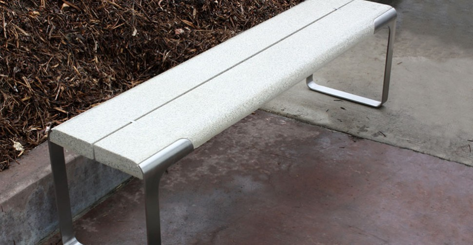 Concrete and steel bench by Jack Cooper | CHENG Concrete Exchange