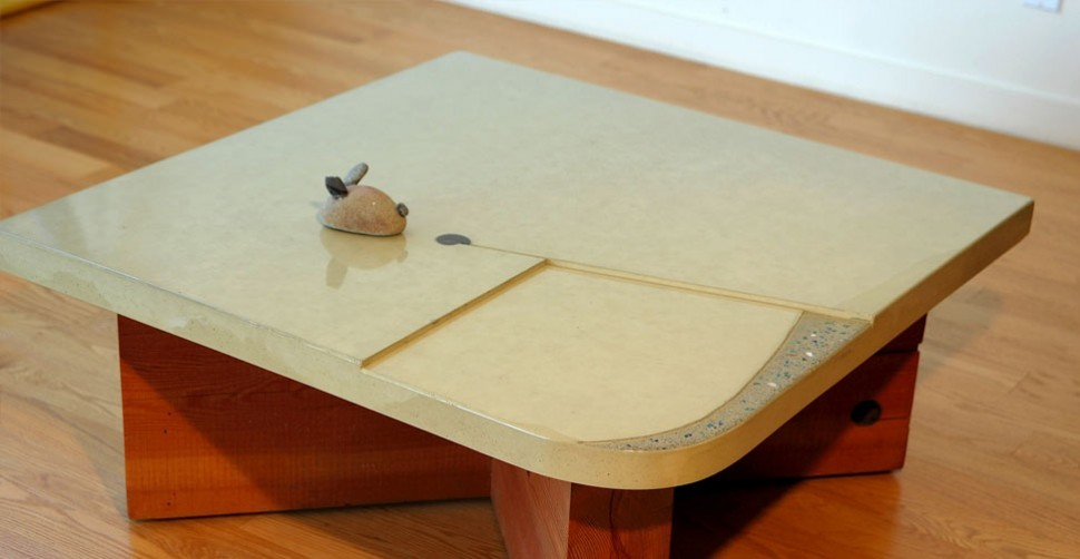 Concrete side table by Cheolsa Kim | CHENG Concrete Exchange