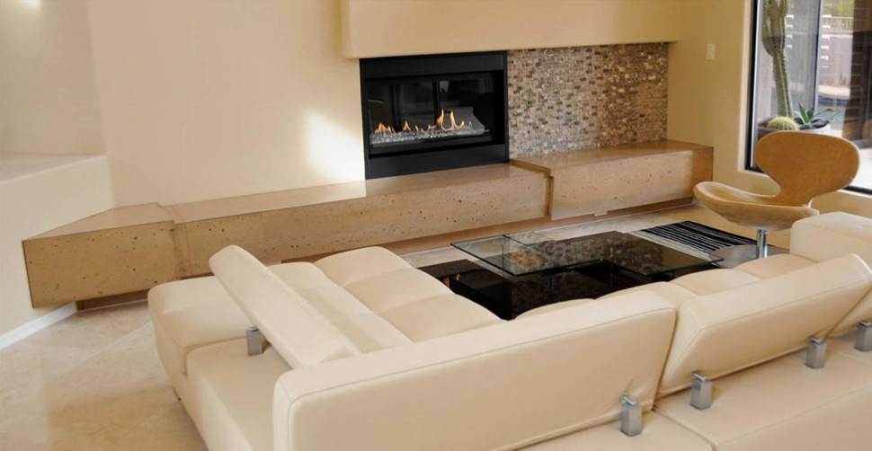 Concrete fireplace hearth by Eric Pottle | CHENG Concrete Exchange
