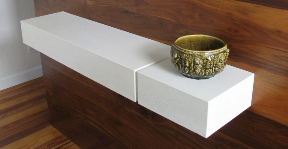 Floating concrete shelf by Simon Leighton | CHENG Concrete Exchange