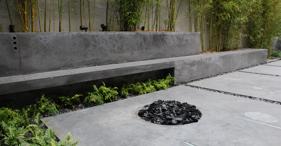 Outdoor Concrete Patio Planter And Bench By Brian Mclean Exchange