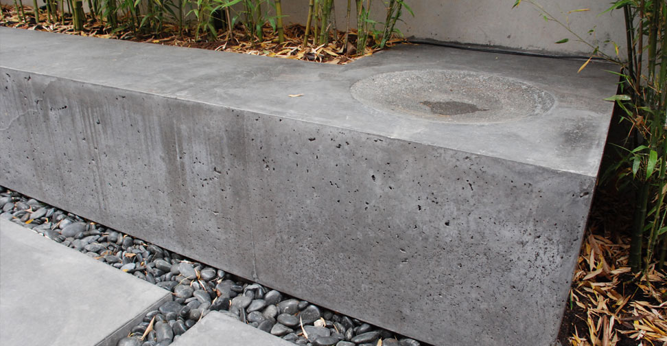 Outdoor Concrete Patio, Planter and Bench by Brian McLean | Concrete Exchange