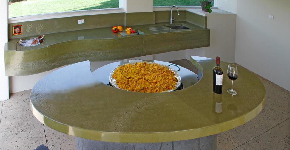 outdoor concrete kitchen in baja california