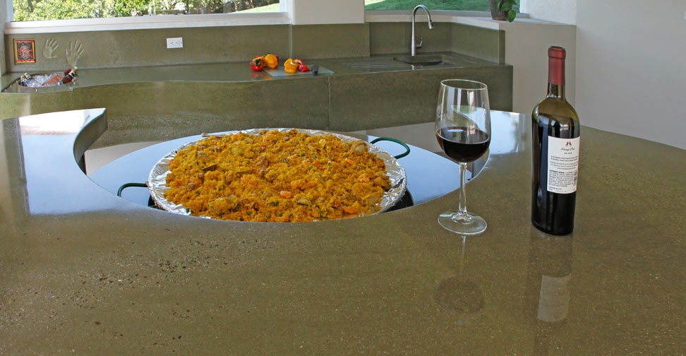 outdoor concrete kitchen island and countertop by dania andrade concrete exchange