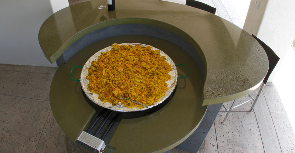 Outdoor Concrete Kitchen Island Countertop by Dania Andrade   Concrete Exchange