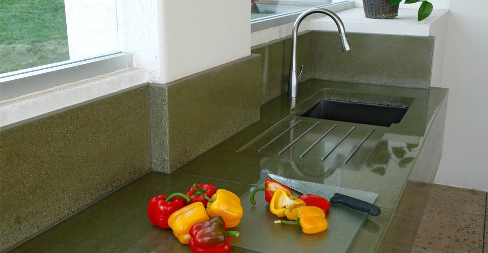 Outdoor Concrete Kitchen Countertop by Dania Andrade   Concrete Exchange