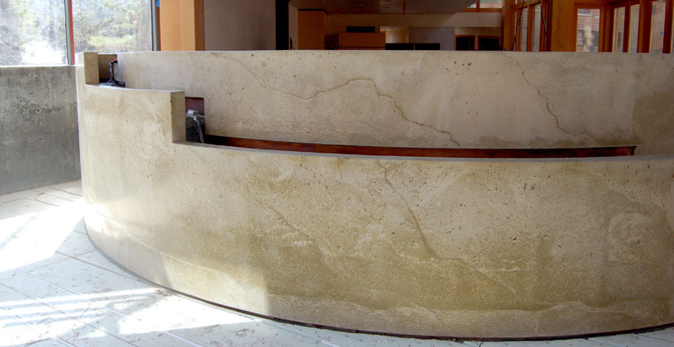 Custom Concrete Water Feature in Carmel by Fu-Tung Cheng | Concrete Exchange