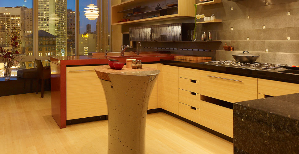 Concrete Countertop And Kitchen Island By Fu Tung Cheng Cheng Design |  Concrete Exchange