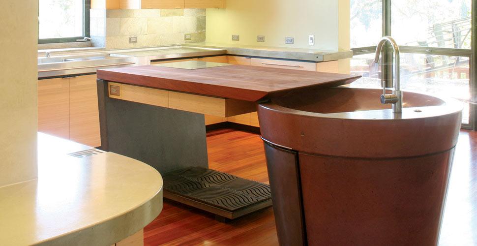 Concrete Kitchen Island By Fu Tung Cheng, Cheng Design | Concrete Exchange