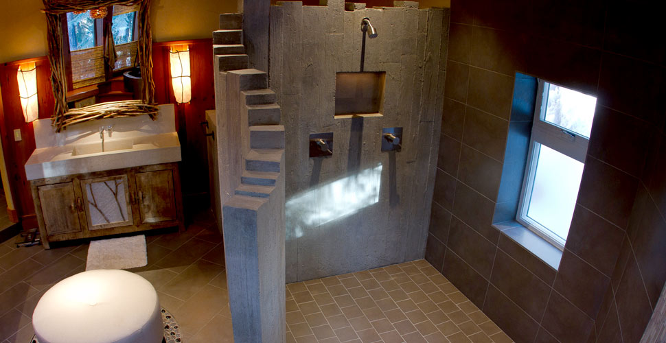Designing and Building a Curved Shower Wall | CHENG Concrete Exchange