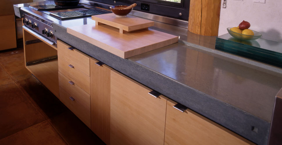 Rock wood glass and concrete innovative options for for Cheng concrete colors