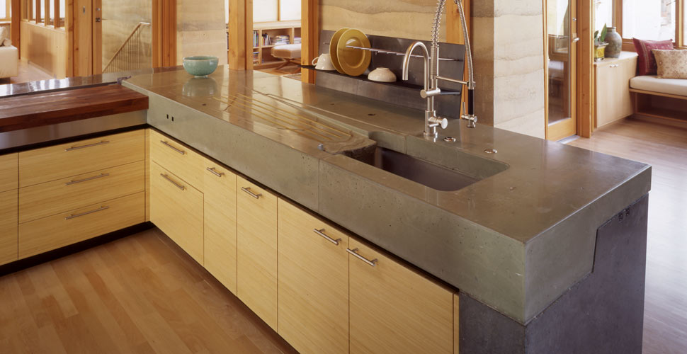 Merveilleux Meteor Vineyard Kitchen Concrete Countertop With Integral Drainboard By  Fu Tung Cheng, Cheng Design ...