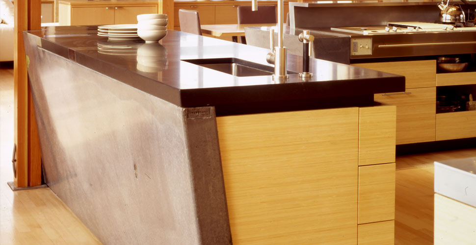Meteor Vineyard Kitchen Concrete Countertop by Fu-Tung Cheng, Cheng Design | CHENG Concrete Exchange