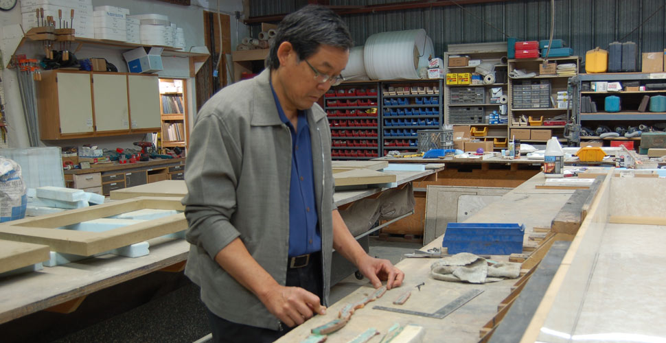 Fu-Tung Creating the Stone Mosaic for the California Academy of Sciences Donor Wall | Concrete Exchange