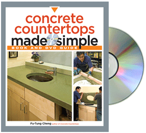Concrete Countertops Made Simple Book and DVD by Fu-Tung Cheng