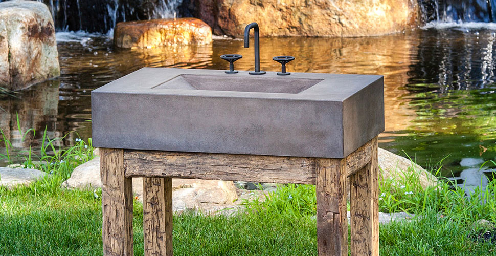 Concrete Wave Sink | JM Lifestyles | Concrete Exchange