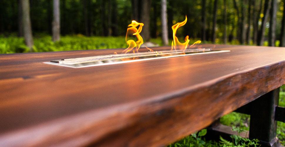 Concrete Wood Fire Table | JM Lifestyles | Concrete Exchange