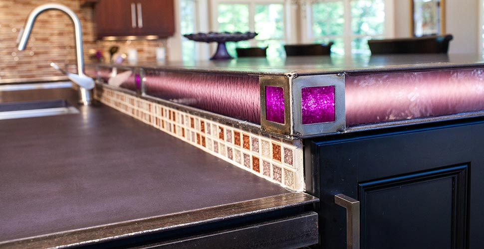 Kitchen Countertop Detail | JM Lifestyles | Concrete Exchange