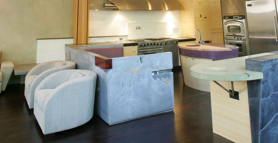 Carmel Custom Concrete Kitchen by Fu-Tung Cheng | Concrete Exchange