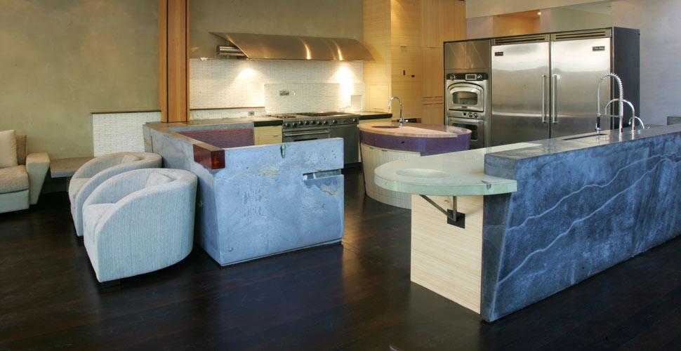 Custom Concrete Kitchen in Carmel