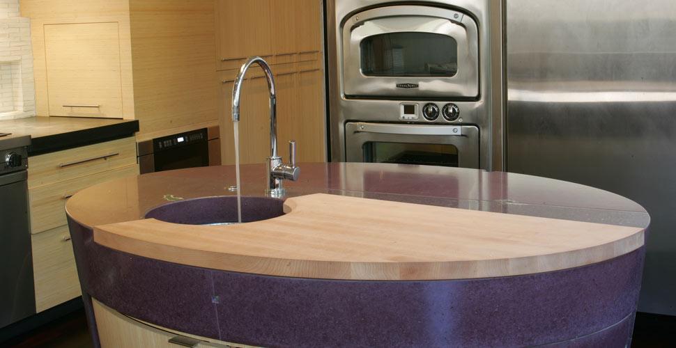 Carmel Custom Concrete Kitchen by Fu-Tung Cheng | Concrete Exchange