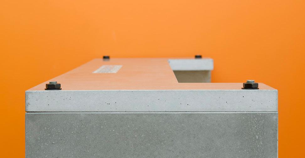 Concrete Desk by Paul Wood | Concrete Exchange