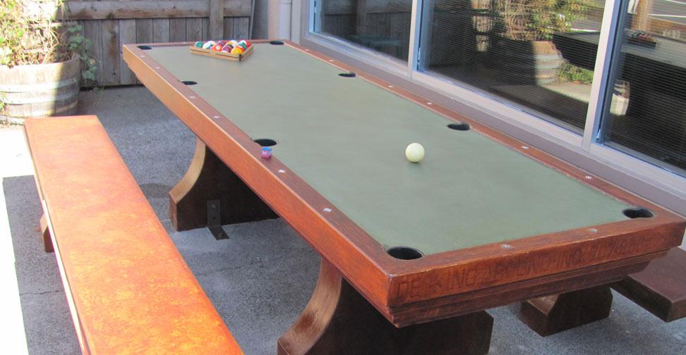 "Outdoor Concrete ""Pool"" Table by David Jefferson | Concrete Exchange"