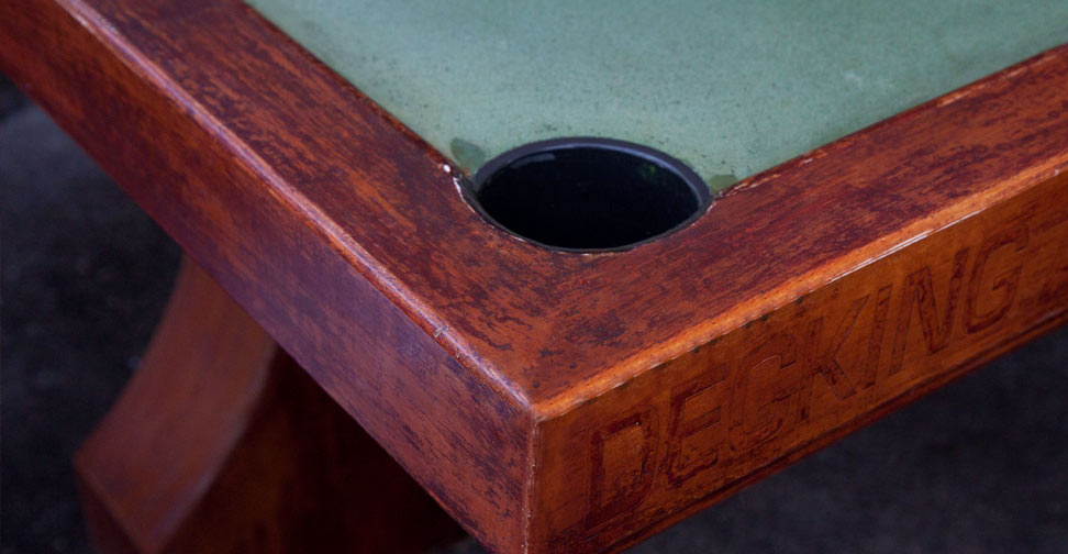 """Detail View of Outdoor Concrete """"Pool"""" Table by David Jefferson 
