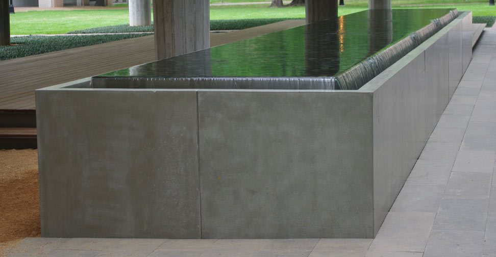 Concrete Water Feature for Rice University by John Newbold | Concrete Exchange