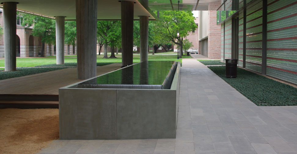 Delicieux Concrete Water Feature For Rice University By John Newbold | Concrete  Exchange ...