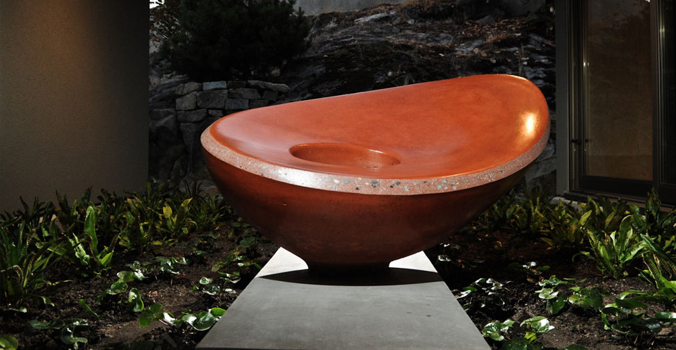 Sculptural Concrete Fire Bowl by Yves St. Hilaire | Concrete Exchange