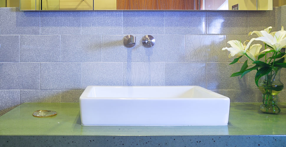 Custom Concrete Bathroom Sink in Sun Valley, ID by Fu-Tung Cheng | Concrete Exchange