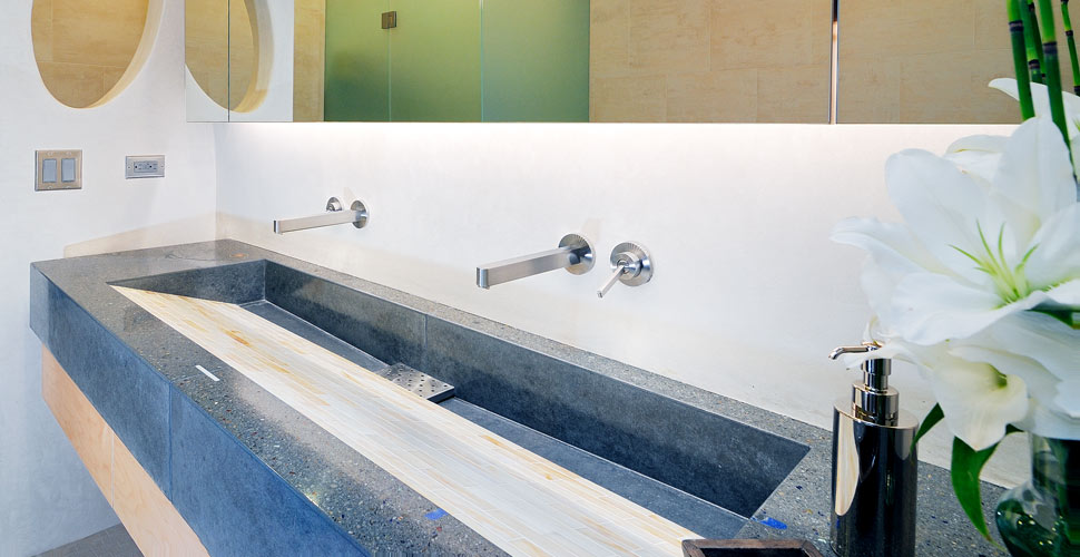 Custom Concrete Integral Sink in Sun Valley, ID by Fu-Tung Cheng | Concrete Exchange