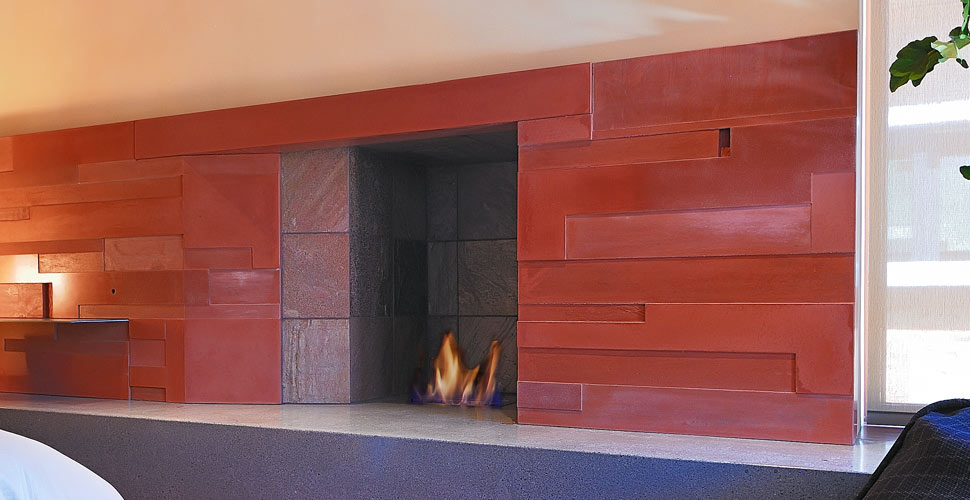 Custom Concrete Fireplace in Sun Valley, ID by Fu-Tung Cheng | Concrete Exchange