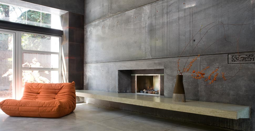 Custom Concrete Fireplace by Fu-TUng Cheng | Concrete Exchange
