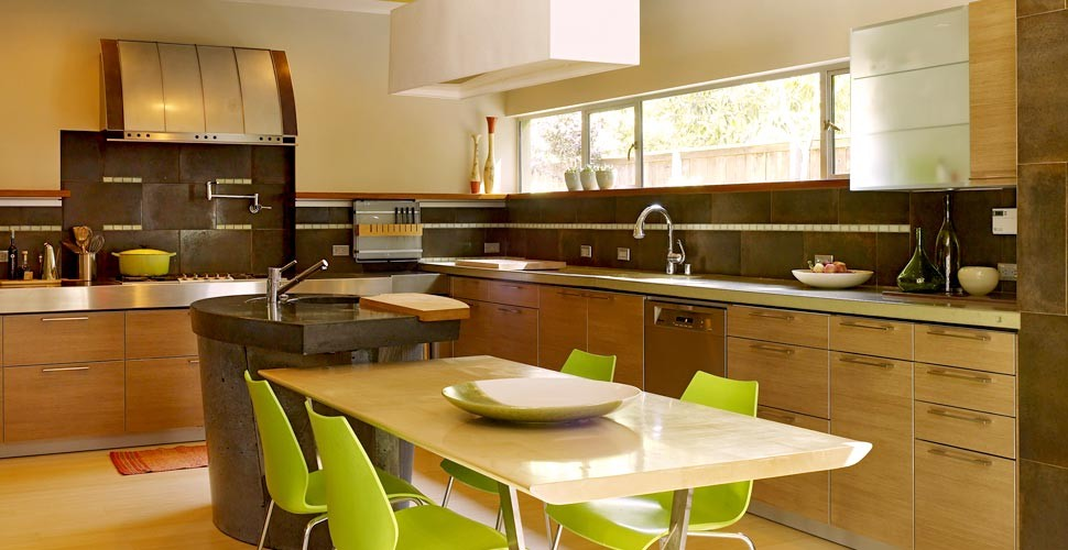 Concrete Countertops in Menlo Park by Fu-Tung Cheng | Concrete Exchange