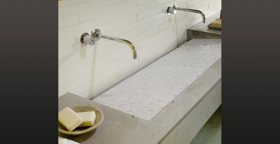 House 6 Concrete Bathroom Countertop | Concrete Exchange