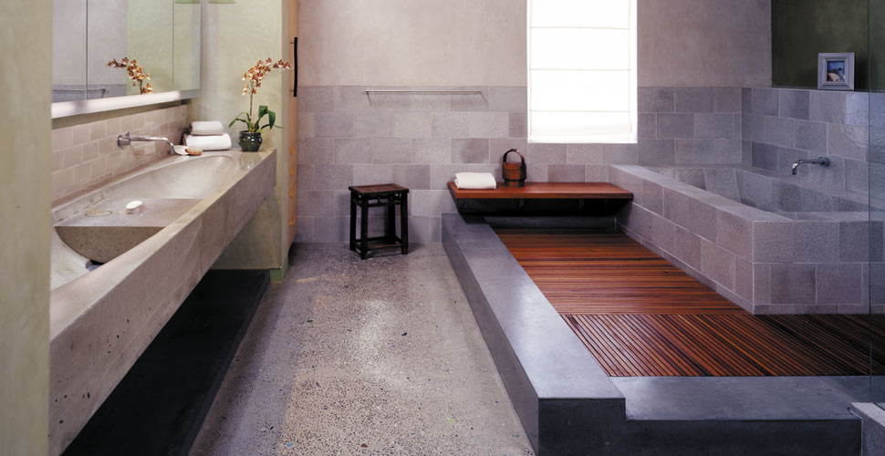 Custom Concrete Master Bath in San Francisco, CA | Concrete Exchange