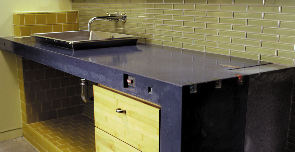 Custom Concrete Bath Countertop in San Francisco, CA | Concrete Exchange