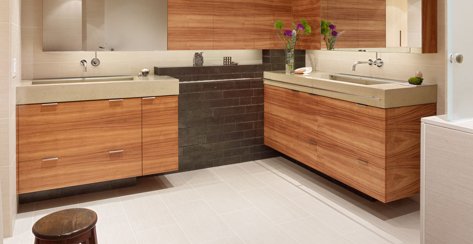 Modern Concrete Bathroom in San Francisco, CA by Fu-Tung Cheng | Concrete Exchange