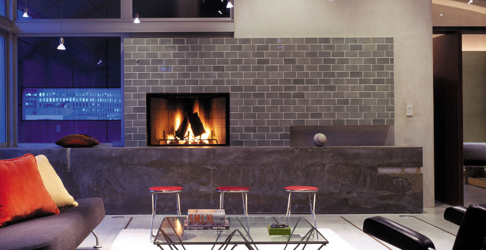 SF Concrete Fireplace by Fu-Tung Cheng | Concrete Exchange